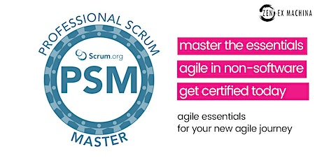 Professional Scrum Master certification (PSM I) [Virtual Face-2-Face Class] tickets