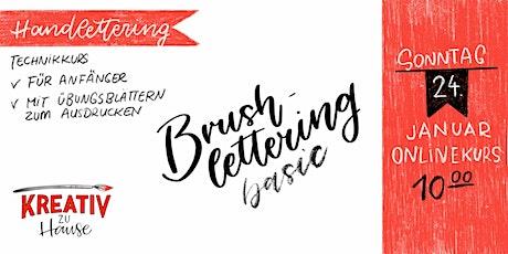 Brushlettering Basics - Zoom  Live Onlinekurs- Kreativ zu Hause Tickets