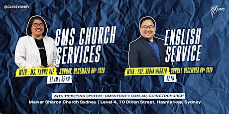Sunday Live Service 1 (w/ Eagle Kidz) @ 11am -  6 December 2020 tickets