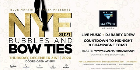 Blue Martini Atlanta NYE 2021: Bubbles & Bow Ties tickets