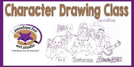 Character Drawing Class - 5:00 PM Session tickets
