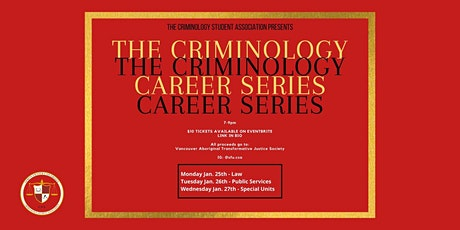 The Criminology Career Series tickets
