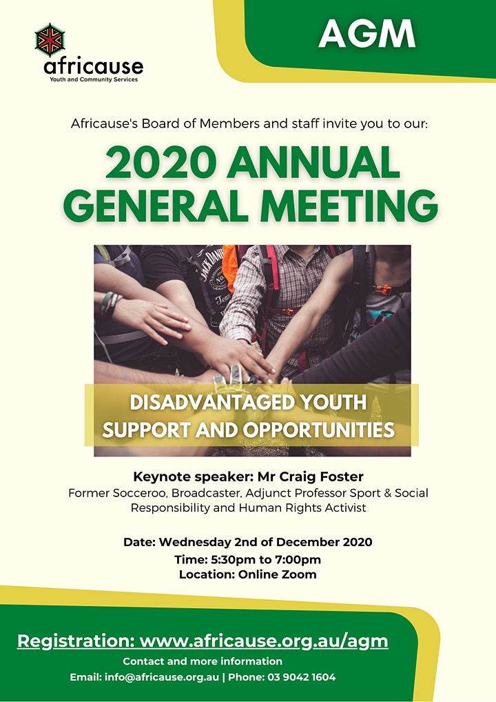 2020 Annual General Meeting -Africause image