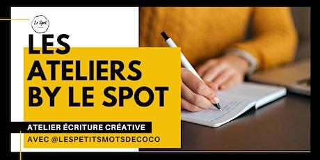 Atelier d'écriture créative avec l'écrivain Coco Mondésir billets