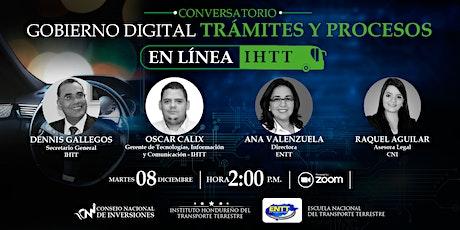 CONVERSATORIO GOBIERNO DIGITAL: TRÁMITES Y PROCESOS EN LÍNEA - IHTT entradas