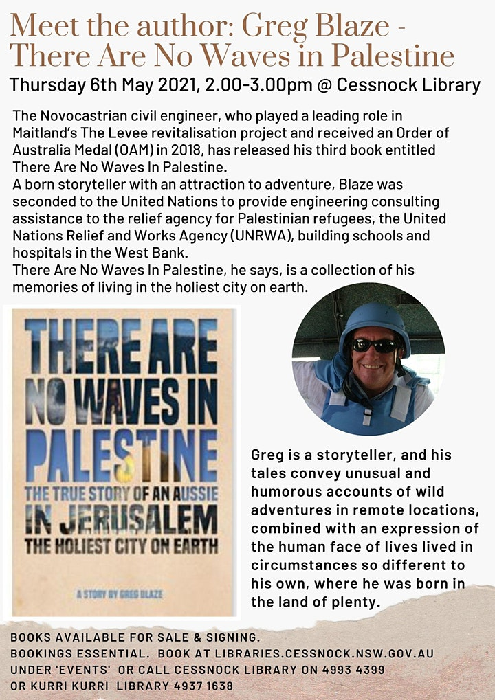 Meet the Author: Greg Blaze - There Are No Waves in Palestine image