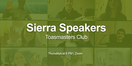 Online Public Speaking | Sierra Speakers Toastmasters entradas