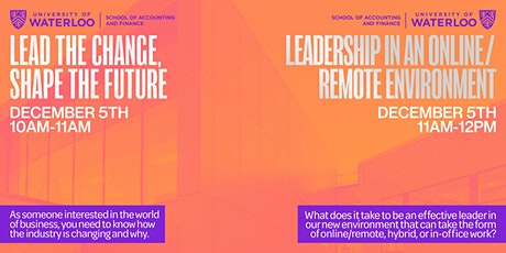 DECA Ontario x Waterloo (2): Leadership in an Online/Remote Environment tickets