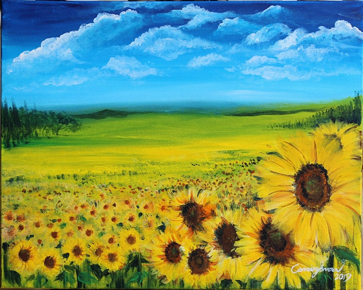 Chill & Paint Friday Night  Auck City Hotel  - Sunflower Field! (SOLD OUT!) image