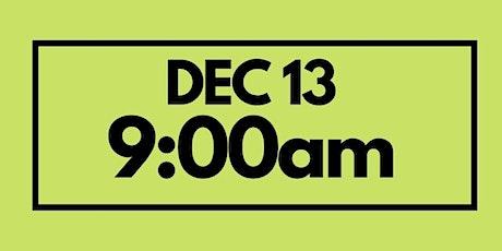 9:00AM Dec 13  - Services & Kids Registration tickets