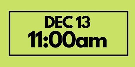 11:00AM Dec 13  - Services & Kids Registration tickets