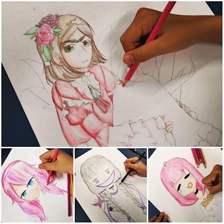 Manga Anime Drawing Course starts Aug 6 (8 sessions) image