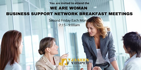 We Are Women Business Support Networking Breakfast Meetings- Live Event tickets
