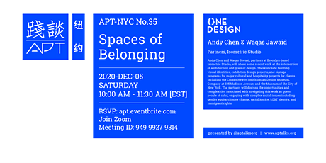 APT.NYC Vol.35 - Isometric Studio: Spaces of Belonging tickets
