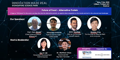 Innovation Made Real: Alternative Protein - Future of Food tickets