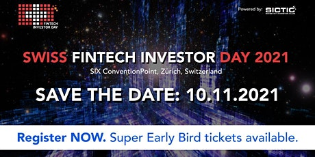 Swiss Fintech Investor Day 2021 Tickets