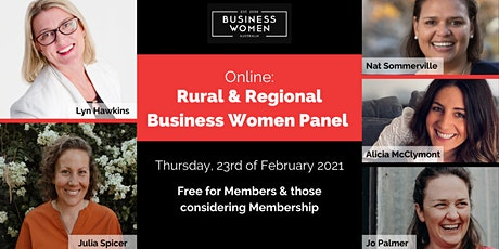 Online, Rural and Regional Business Women Panel tickets
