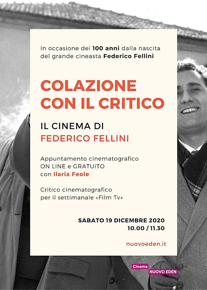Immagine Colazione con il critico: il cinema di Federico Fellini