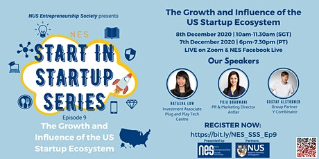 NES Start In Startup Series: The Growth & Influence of US Startup Ecosystem tickets