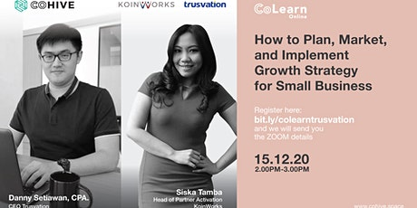 CoLearn How to Plan, Market, Implement Growth Strategy for Small Business tickets