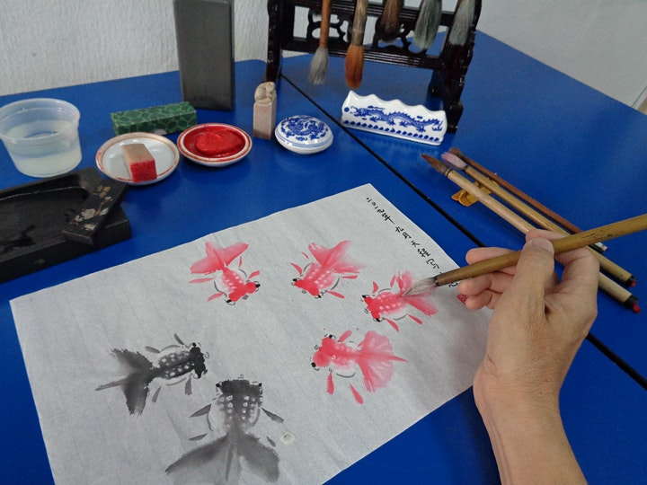 Chinese Brush Painting starts June 1 (8 sessions) image