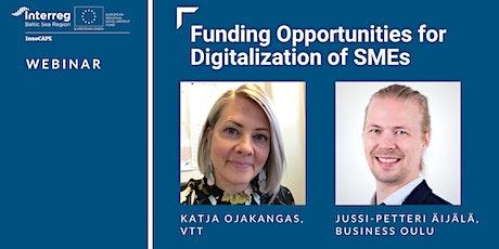 Webinar: Funding Opportunities for Digitalization of SMEs tickets