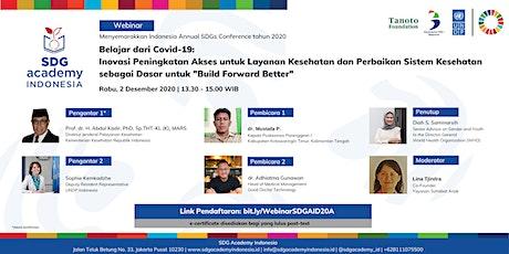 """Belajar dari Covid:  Inovasi Layanan Kesehatan untuk """"Build Forward Better"""" tickets"""