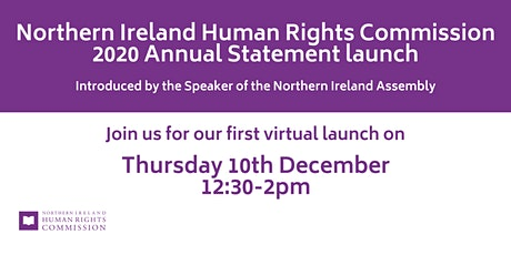 NIHRC 2020 Annual Statement Launch tickets