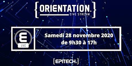 Livestream Orientation  Samedi 12 décembre de 9h30 à 17h billets