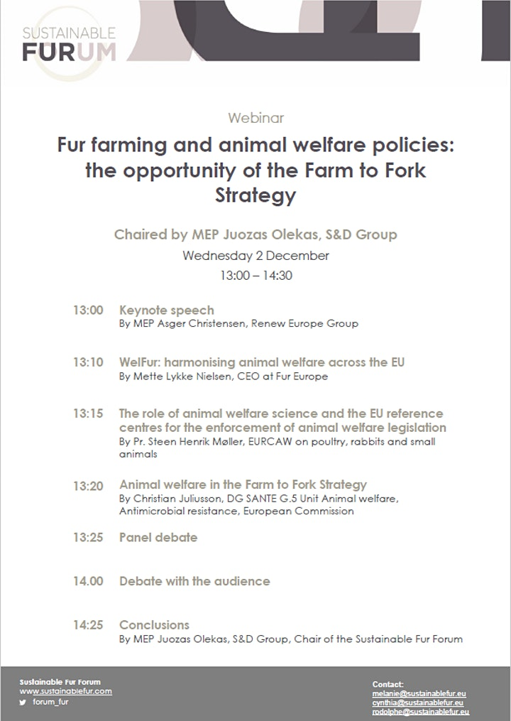 Fur farming, animal welfare policies and  the Farm to Fork strategy image