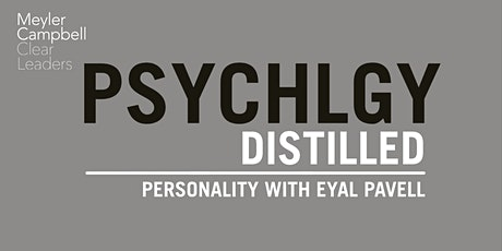 Psychology Distilled: Personality with Eyal Pavell tickets