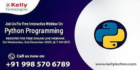 Attend Python Free Webinar On Wed 2nd Dec 2020, @ 7 AM (IST) tickets