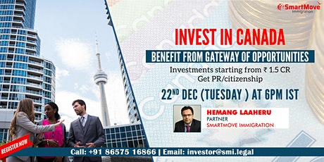 FREE Webinar - Invest in Canada & benefit from gateway of opportunities! tickets