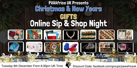 PAW Africa UK Christmas and New Year Online  Sip & Shop Night tickets