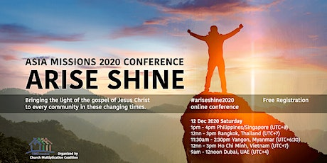 Arise Shine Asia Missions Conference 2020 tickets