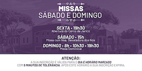 Missa de Sexta, Sábado e Domingo -  04, 05 e 06  de Dezembro  -  PNSA ingressos