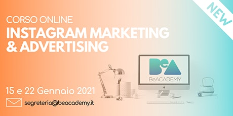 CORSO ONLINE INSTAGRAM MARKETING & ADVERTISING biglietti