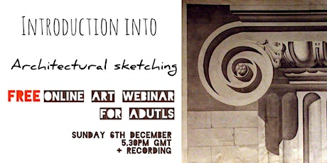 Introduction into Architectural Sketching - FREE Webinar for Adults tickets