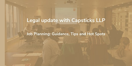 Legal update with Capsticks LLP tickets