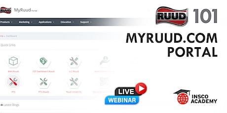 MyRuud.com Portal Training tickets