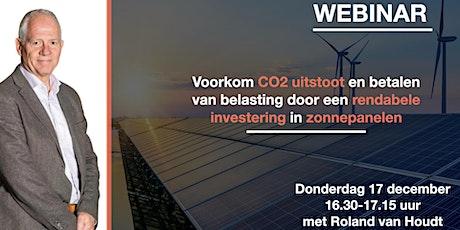 Voorkom CO2 uitstoot door een rendabele investering in zonnepanelen tickets