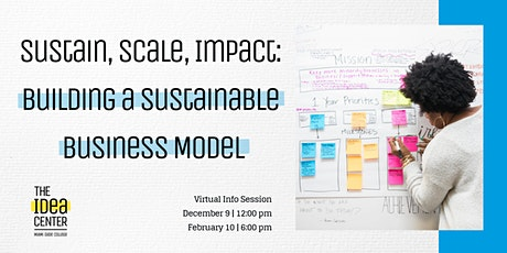 Sustain, Scale, Impact: Building a Sustainable Business Model tickets
