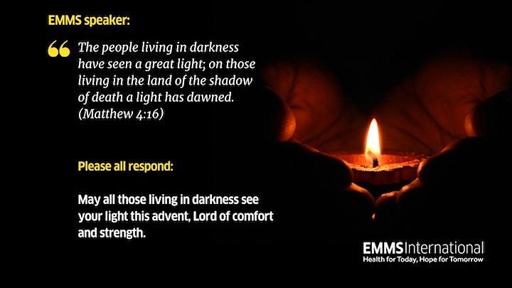 EMMS International Advent Prayers: waiting in hope image