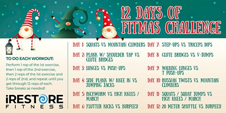 12 Days to Fitmas Challenge tickets