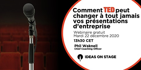 Comment TED peut changer vos présentations d'entreprise - Webinaire gratuit tickets