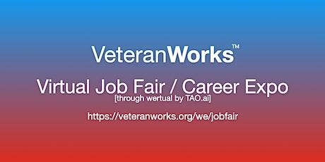 #VeteranWorks Virtual Job Fair /Career Expo #Veterans Event #Salt Lake City tickets