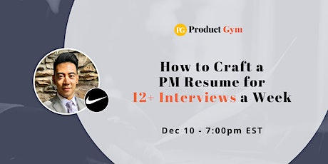 How to Write a Product Manager Resume for 12+ Interviews a Week w/ Nike PM tickets