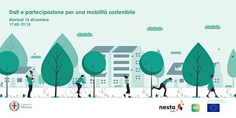 Dati e partecipazione per una mobilità sostenibile biglietti