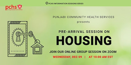 PCHS Pre-Arrival Session on Housing (in Punjabi) tickets