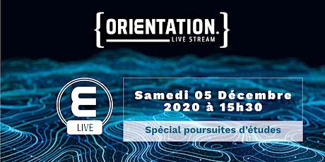 Live Stream Orientation - Poursuites d'études tickets